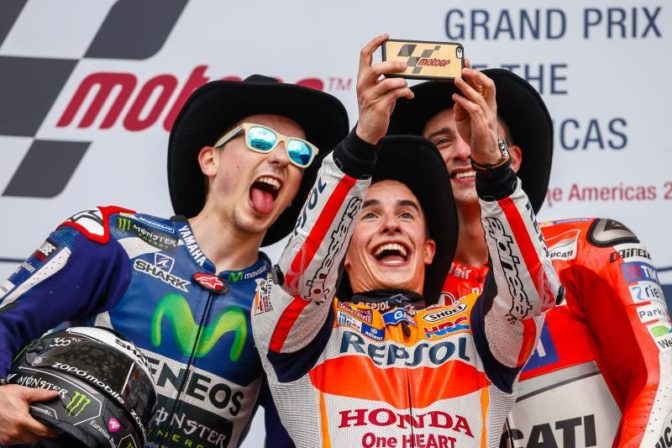 podio GP delle Americhe 2016