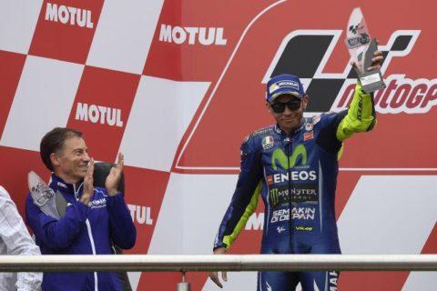 Rossi sul podio del GP di Argentina